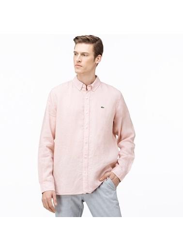 Lacoste Erkek Regular Gömlek CH4990.5MM Pembe